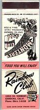 1950's era Rainbow Monterey Club Gardena CA Primadonna Reno rare Matchbook Cover