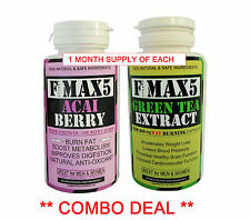 STRONGEST LEGAL SLIMMING ACAI BERRY& GREEN TEA DETOX COMBO DIET PILLS MAX No.99