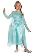 Disney Frozen Elsa Snow Queen Classic Blue Dress Child Costume 76906 Disguise 3t/4t