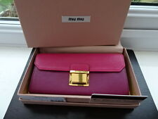 100% Authentic Miu Miu Pink/Fuschia Two Tone Leather Purse Wallet BNIB