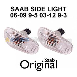 NEW SAAB FENDER SIDE MARKER LIGHT TURN SIGNAL SET 9-3 03-12 9-5 06-10 12777318