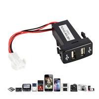 Double USB Port 12V Voiture Prise Allume-cigare Adaptateur Chargeur pr Toyota BM