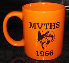 Mvths Mt. Vernon High School Rams Orange & Black 1966 Coffee Cup Mug