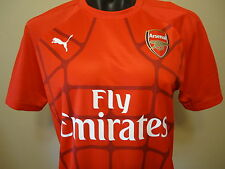 ARSENAL OFFICIAL LICENSED PRE MATCH STADIUM JERSEY MENS XL 15/16 NEW