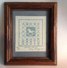 Mary Rutherford ROCKING HORSE Signed LE Nursery ABC Sampler Quilt Print 1985