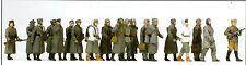 Allemand Prisonniers de Guerre 20 Figurines Non-Peintes Preiser 16578 Spur Ho
