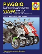 Piaggio and Vespa Scooters (with Carburettor Engines) Service and Repair Manual…