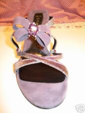 CASADEI JEWELED LAVENDER VELVET SLIDES EVENING 8 38