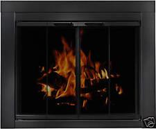 Residential Retreat Glass Fireplace Door Ardmore Black Medium AB-1041 *********