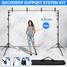 9X10Ft Adjustable Studio Heavy-Duty Background Support Photo Backdrop Stand Kit