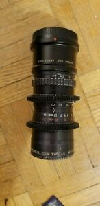 Angenieux 17.5-70mm f2.2 zoom lens + M4/3 adapter, filters