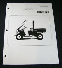 Kawasaki Mule 520 Utility Vehicle Assembly Preparation Manual Book KAF300-D1 OEM