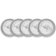 2021 P Australia Silver Kangaroo 1 oz $1 Bu - Five 5 Coins