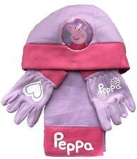 Peppa Pig sombrero guantes y bufanda set 3-5 Años