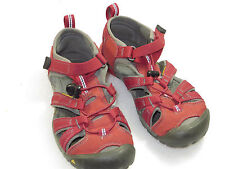 GR8 cond!KEEN GIRLS/youth/boys newport H2 red SANDALS SHOES size 2 easy pull,red