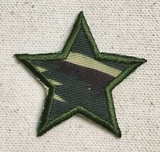 "2"" Army Star - Camo/Camouflage - Iron On Applique/Embroidered Patch"