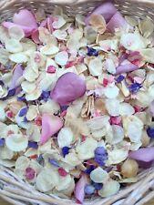Vintage naturelle mariage CONFETTI Mélange 100% Biodégradable rose violet ivoire