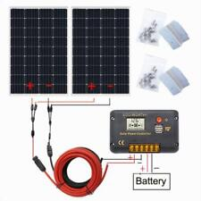 240w Solar Panel Kit:2-120W Solar Panel +20A LCD controller for Home Garden Car