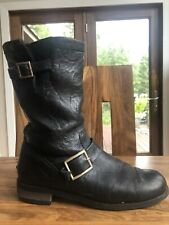 Jimmy Choo Fur Lined Moto Boots Sz 41