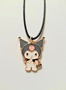 Cute Kuromi My Melody Sanrio Cartoon Cat Girls Ladies Waxed Cord Necklace Gift
