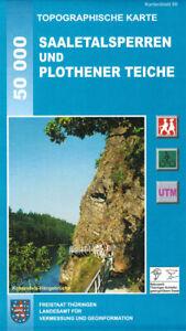 Wanderkarte Saaletalsperren mit Plothener Teiche / Blatt 60 / Thüringen