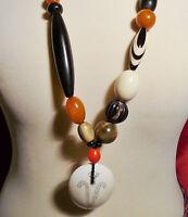 Kette im Ethno Look ✿ Muschel Bernstein ✿ Multicolor Kette Necklace Collier