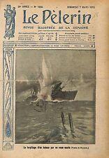 Battleship Torpille Torpedo Cuiser Croiseur Sous Marin War WWI 1915 ILLUSTRATION
