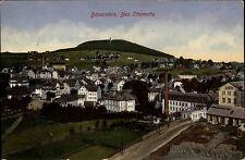 1916 Stempel & AK Bärenstein Bz. Chemnitz Feldpost gelaufen nach Wilkau Sachsen