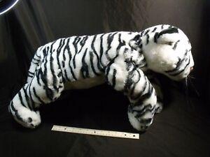 "Animal Alley Toys R Us White Tiger Plush Stuffed Animal Safari Big Cat large 26"""
