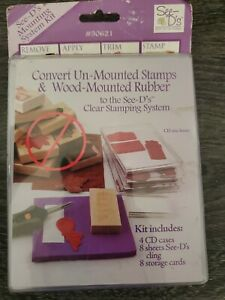 Sugar Loaf See Ds Rubber Stamp Mounting System Kit Convert to Clear Stamping NWT