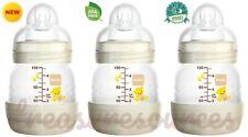 3 Ct Mam Easy Start Anti Colic Bottle 4.5oz Newborn 0-6mo Slow Flow Sz 0 No Bpa