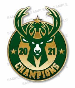 Milwaukee Bucks Champions 2021 Precision Cut Decal
