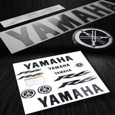 Full Sticker&3D Emblem Fairing/Fender Vinyl Decal for Yamaha YZF-R6 Black+Chrome