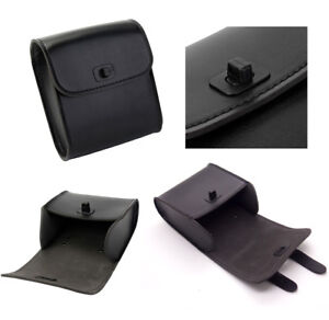 Synthetic Leather Black Motorcycles Front Side Quick-release Buckle Saddle Bag