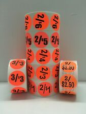 Brred 15 Circle 2250 Or 149 Each Labels Price Discount 1000roll