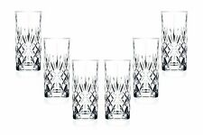 Melodia Hiball Glasses 12.25 Oz, Crystal Cut, Party Glassware Set of (6)