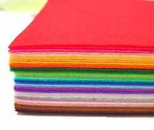 "Stiff Wool Felt Sheets - You will get 40 Sheets of 6"" x 6"" in Various Colors"