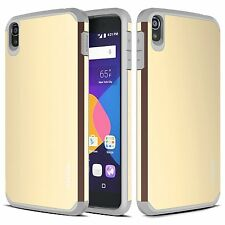 RANZ Alcatel OneTouch Idol 3 (5.5) Gold Impact Dual Layer Shockproof Bumper Case