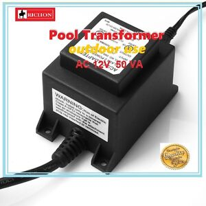 NEW Waterproof Pool Light Transformer 12V 50w IP44 Suitable LED Pool Lights