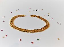 GOOD QUALITY Men's  9ct Yellow Gold Plate Bracelet