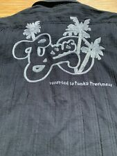 GSUS Sin dustries VINTAGE Short Sleeved Men's Black Embroidered Shirt SZ Small