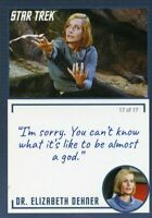 Star Trek TOS Archives & Inscriptions card #14 DR Elizabeth Dehner Var 17 of 17