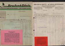 ALTONA-OTTENSEN, 2 x Rechnung 1924/25, Bruhn & Dietz Geschäftsbücher-Fabrik Buch