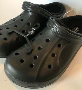 Crocs Classic Fuzz-Lined Clog Ralen Black Men's 13