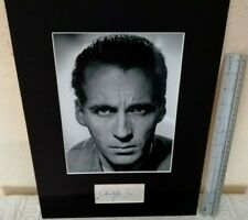 CHRISTOPHER LEE JAMES BOND DRACULA AUTHENTIC SIGNED AUTOGRAPH DISPLAY UACC