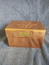 Copper Recipe Box With Brass Plate