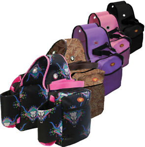 Fort Worth Saddle/ Bottle/Gear Trekking Horse Trail Riding Bags 5 Colours