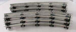 """MTH 10-99093 Standard Gauge Tinplate 42"""" Diam. Curved Track Sections (11) EX"""