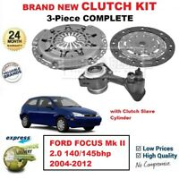 FOR FORD FOCUS Mk II 2.0 140/145bhp 2004-2012 BRAND NEW 3PC CLUTCH KIT with CSC