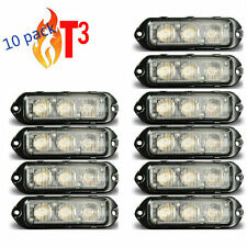 10 pack Feniex T3 LED Surface Mount warning light Super Bright    AMBER